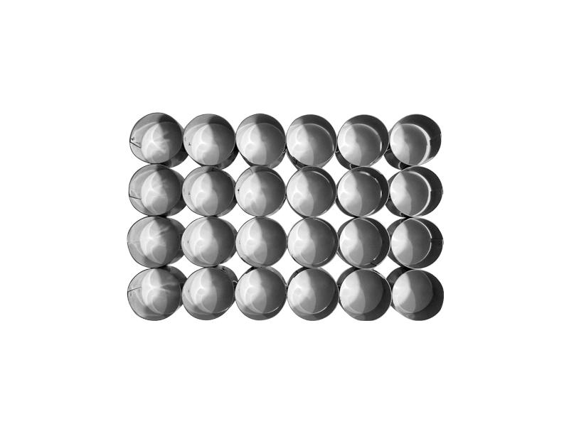 Placa cortante redonda n° 4 por 24 unidades (sin manija)