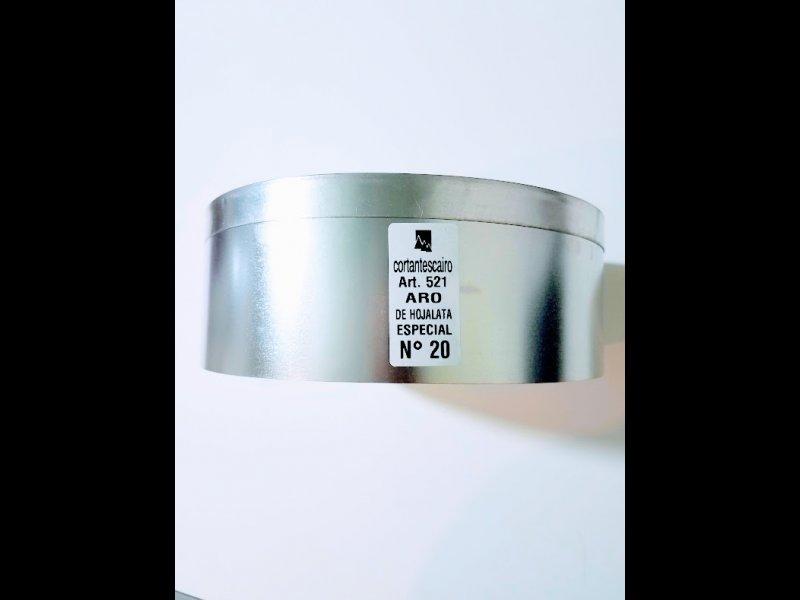 Aros de Hojalata de 7 cm  a 32 cm. de diametro y 7,50 de alto